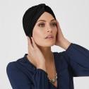 'Pleated Turban' headwear, Natural Image