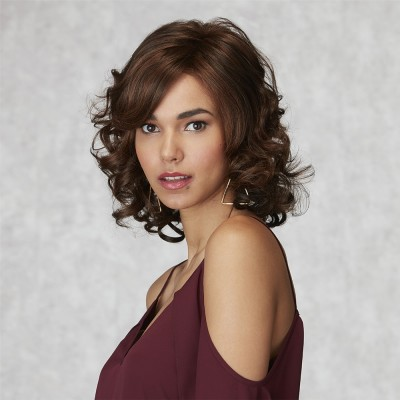 Inspired Poise wig, Chocolate Copper Mist