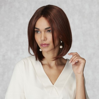 Inspired Tranquil wig, Rich Chestnut Glow Rooted