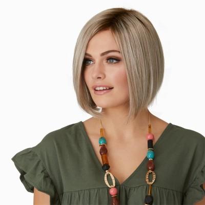 Tailored wig, Platinum Mist Rooted