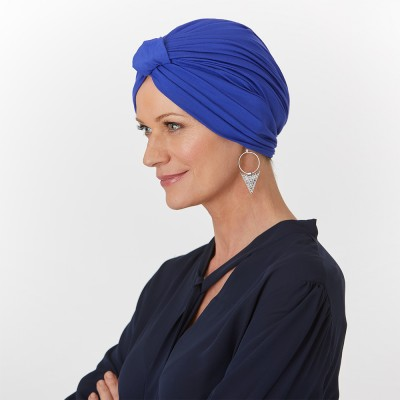 'Bamboo Pleated Turban' headwear, Natural Image