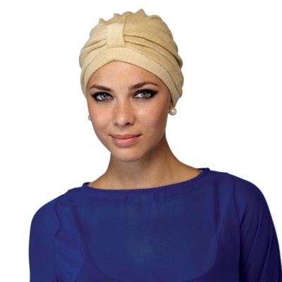 Terry Turban in Sandstone colour, Natural Image