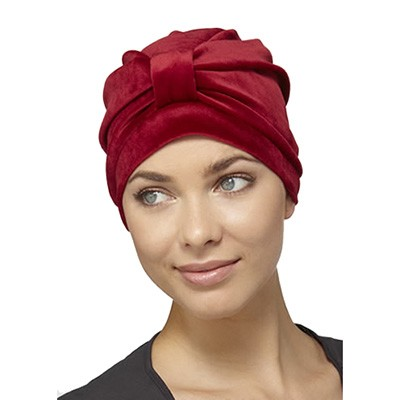 Velveteen Turban, Claret, Natural Image