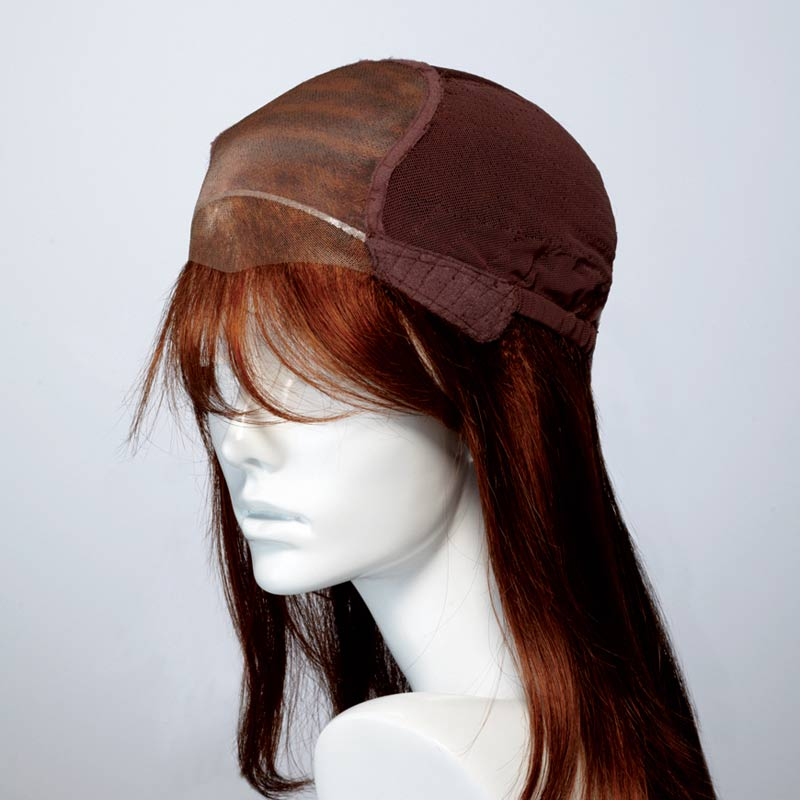 Natural Image monofilament cap with hand knotted lace front